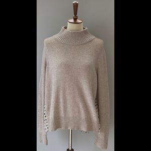 Moth for Anthropology Turtleneck Sweater, Cream